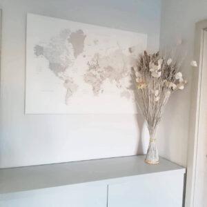 kunst-wand-weltkarte-gerahmt-Weiß