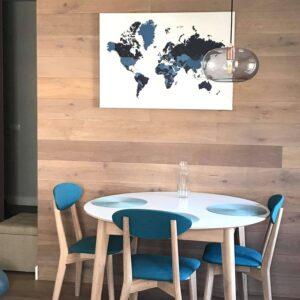 Kunstdruck-Pinnwand-auf-Echtholz-Keilrahmen-marineblau
