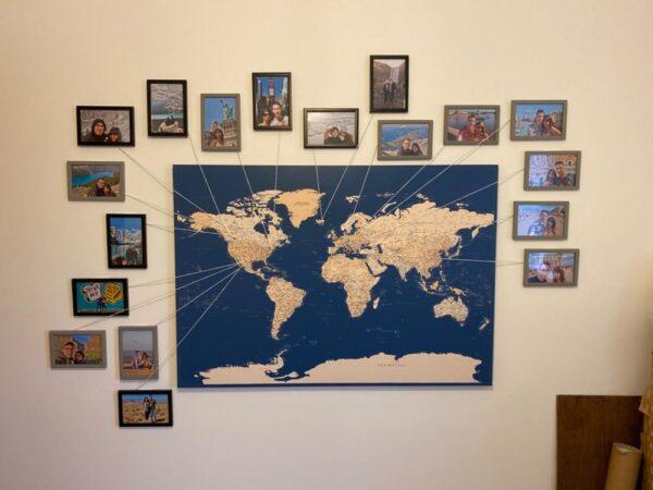 dunkelblau weltkarte pinnwand tripmapworld