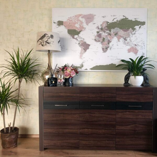 Grün-Welt- Karte-Pinnwand