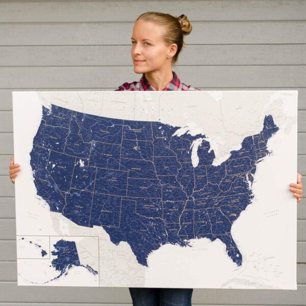 PINNWAND-USA-KARTEN-marineblau