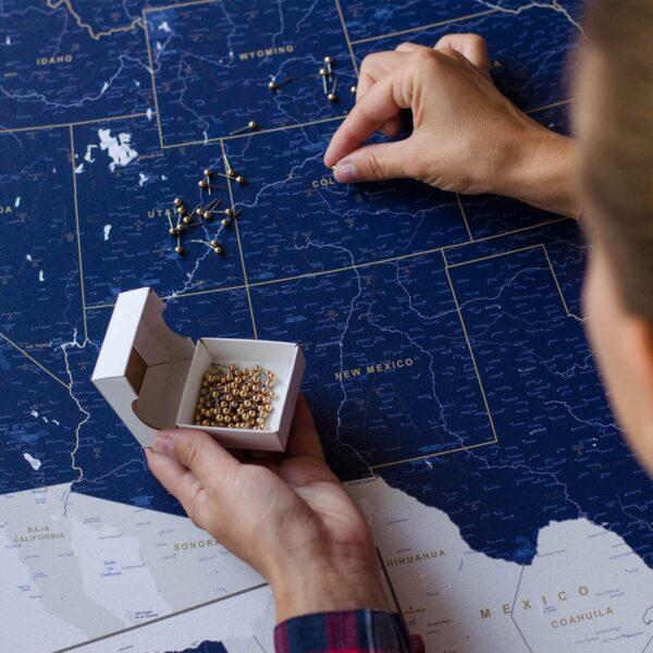 drücken-stecknadeln-pinnwand-usa-karte