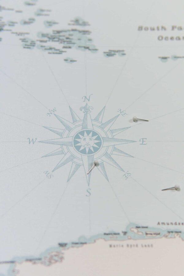 Retro hellblau pinnwand karte