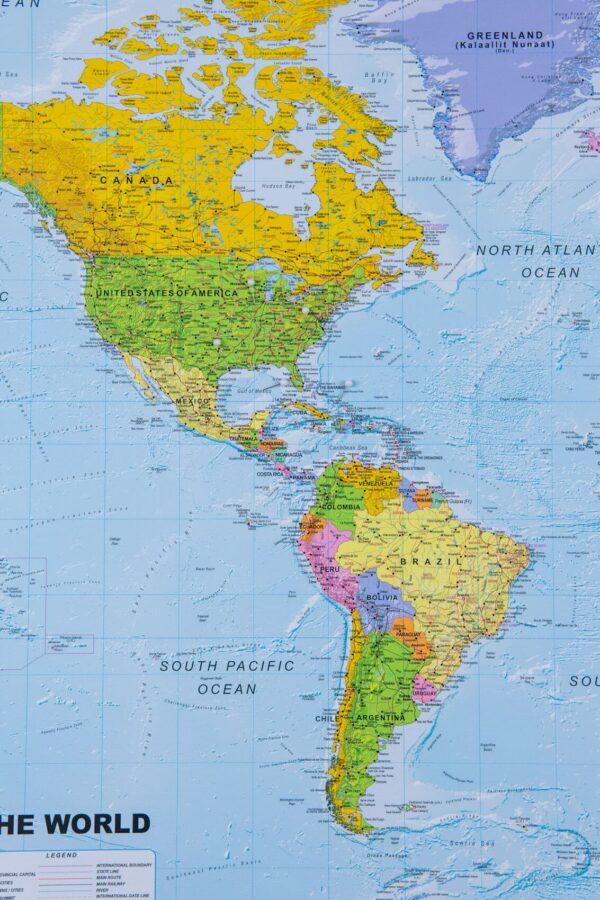 Welt Pinnwand Karte – Politisch