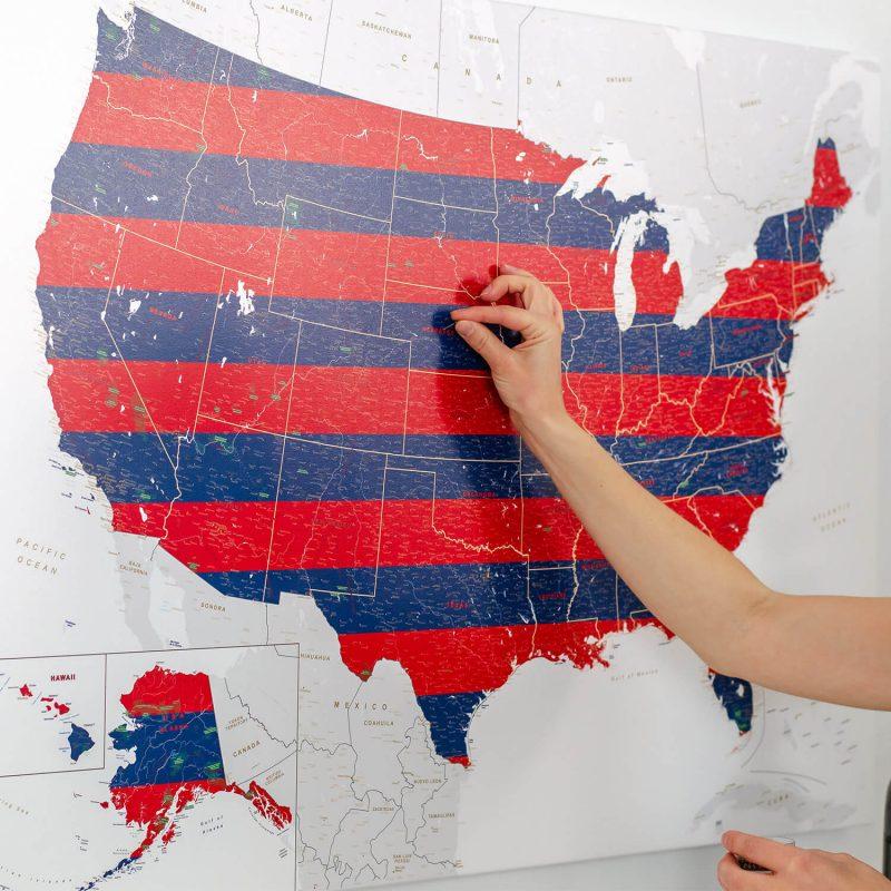 4th july home decor usa map