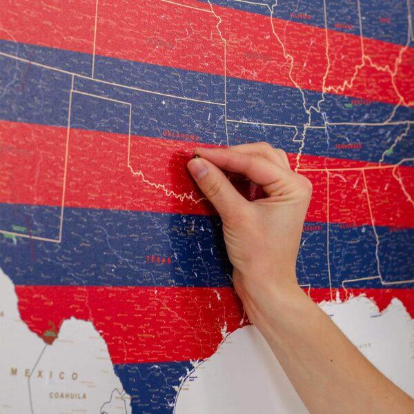 Detailliert-USA-Pinnwand-Karte-Independence-Day
