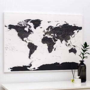 Pinnwand-Weltkarte-Schwarz-und-Weiß-tripmapworld