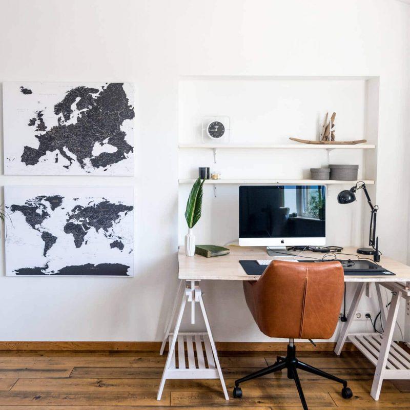 Pinnwand-Weltkarte-europa-karte-Schwarz-und-Weiß-Detailliert