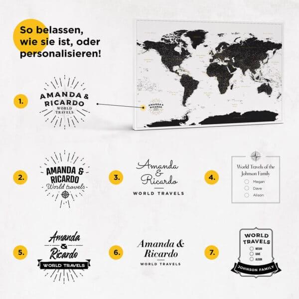 personalissierte karte