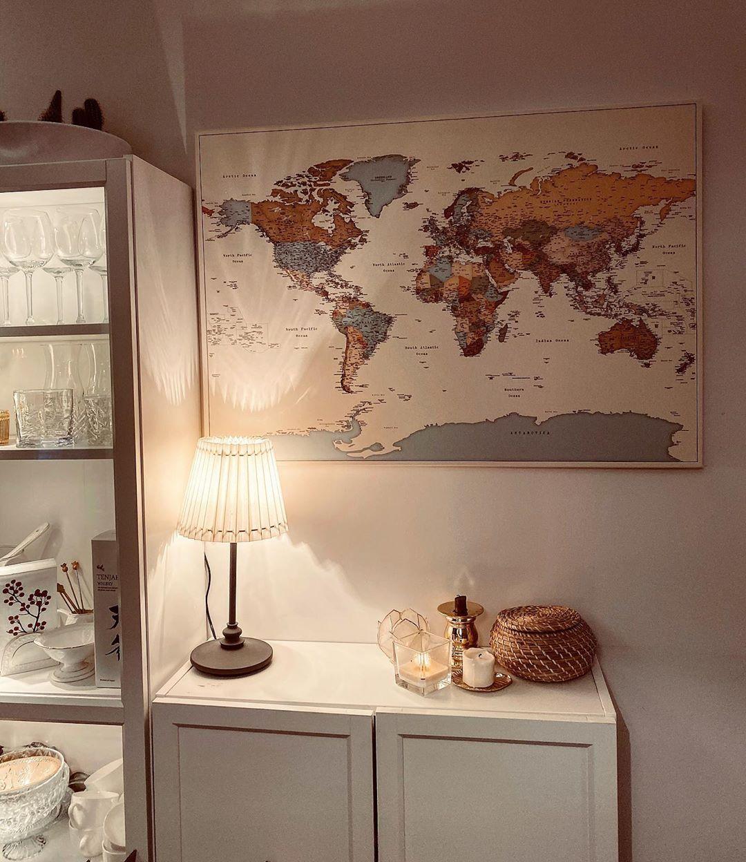 Pinnwand Weltkarten zum Aufhängen