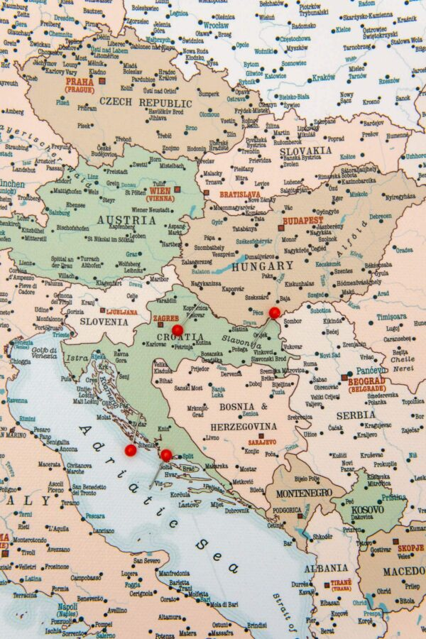 detailliert europa karte retro tripmapworld