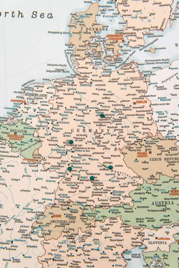 europa karte retro