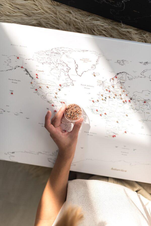 Pinnwand Weltkarte Weiß