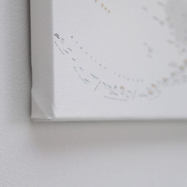 Pinnwand USA Karte Grau Weiß mit rahmen