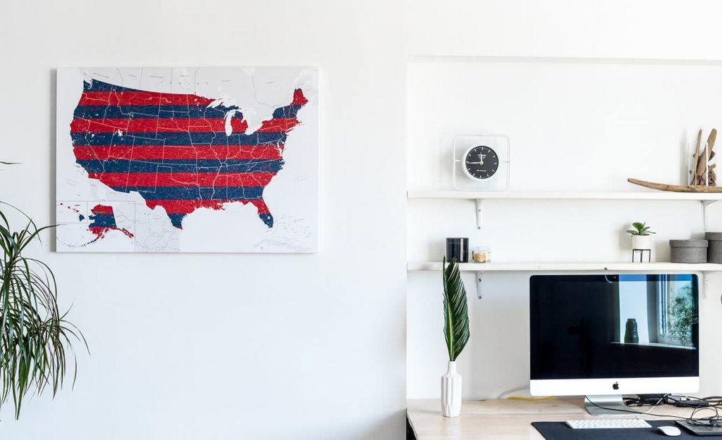 Tipps für die Wahl einer großen detaillierten Karte der USA