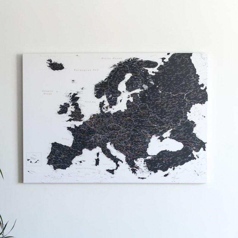 europakarte zum pinnen tripmapworld