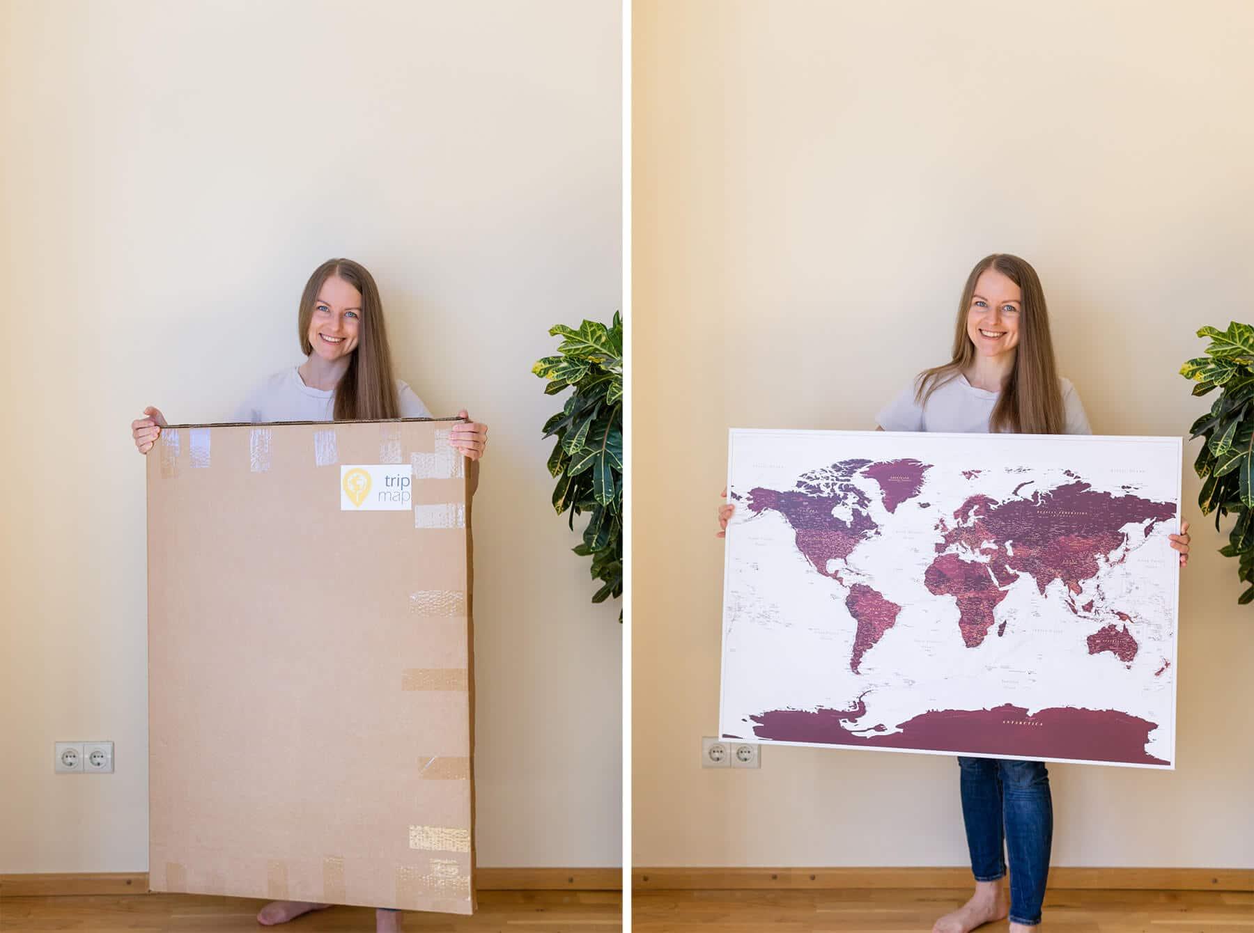 hängt-man-eine-Trip-Map-Reisekarte