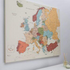 europakarte pinnwand bunte