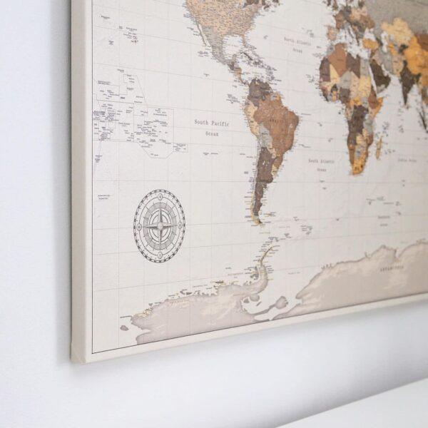 karte mit stecknadeln safari