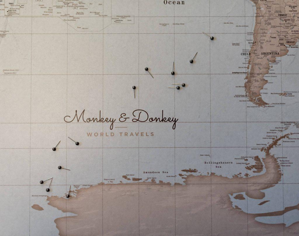 personalisierte Weltkarte vintage