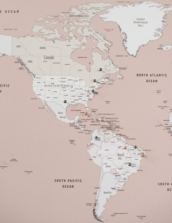 altrosa pinnwand reisekarte