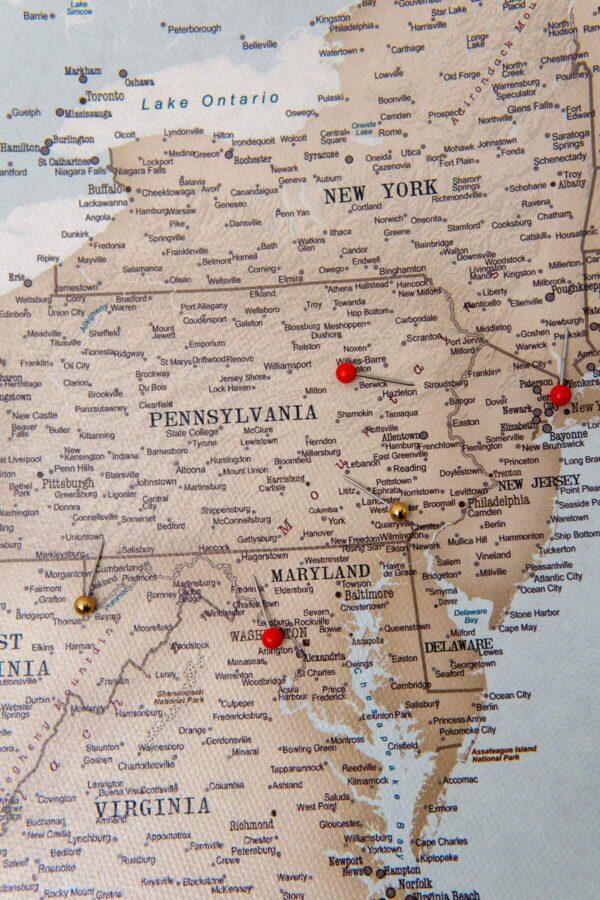 usa reisekarte vintage