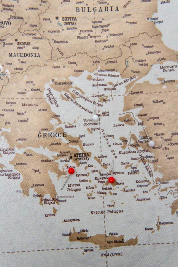 vintage europa reisekarte