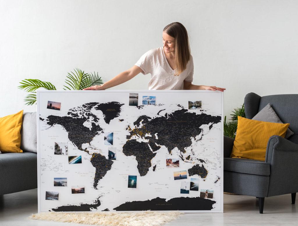 Eine extra große Pinnwand-Weltkarte - für alle mit großen Reiseträumen